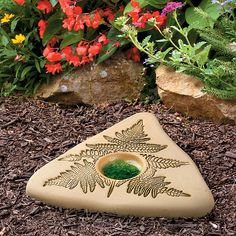 Beautiful garden décor attracts butterflies to your garden - Fill the fern-accented Butterfly Peddler with sand and water and watch the butterflies appear.