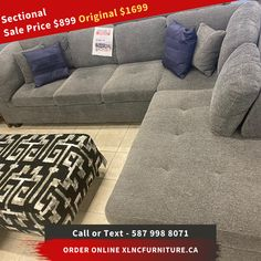 #Sectional SALE PRICE $899 🤓  ORIGINAL PRICE $1699  FREE DELIVERY IN #Calgary, #Alberta  Financing Options Available. SHOP FROM HOME, FURNITURE ONLINE, STAY SAFE!  We are here to help you. Support local business, and help us support our delivery team  #furniturestoresincalgary #furniturecalgary #discountfurniturecalgary #cheapcalgaryfurniturestores #furnitureonsalecalgary #wholesalefurniturecalgary #furnitureshopscalgary #ashleyfurniturecalgary #modernfurniturestoresincalgary Modern Furniture Stores, Affordable Furniture, Furniture Online, Furniture Sale, Discount Furniture, Support Local, Wholesale Furniture, Furniture Inspiration, Stay Safe