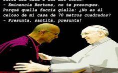 Papa Francesco e il cardinale Bertone.
