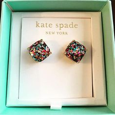 kate spade new york glitter stud earrings | Nordstrom