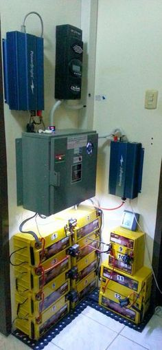 Picture of Lifepo4 solar storage battery bank http://www.earth4energymanual.com/reduce-your-electricity-bill/
