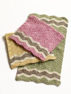 Free Crochet Pattern: Cottontail Dishtowels