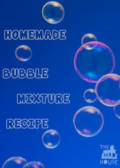 how to make bubble mixture with detergent