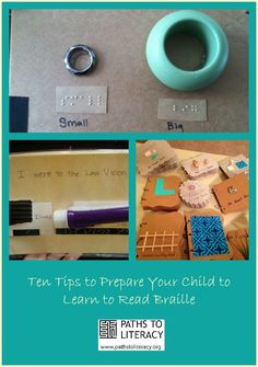 Practical tips to prepare your child to learn to read braille