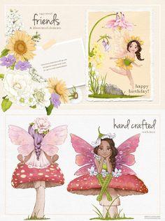 Fairy Clipart, Flower Clipart, Woodland Illustration, Graphic Illustration, Illustrations, Drawing Clipart, Woodland Fairy, Watercolor Texture, Photoshop Elements
