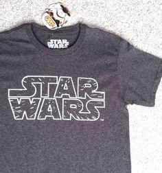 New Mens(Small-Adult) STAR WARS T-SHIRT Classic Logo Gray/White Lightspeed NWT #StarWars #GraphicTee