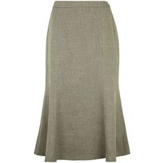 Eastex Misty green fit & flare skirt (83 BRL) ❤ liked on Polyvore featuring skirts, green, green a line skirt, circle skirts, mid calf length skirts, flared midi skirt and a-line skirts