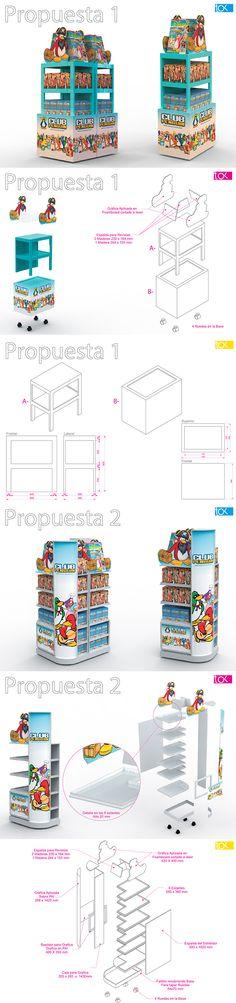 Exhibidor de pie modular, combinable