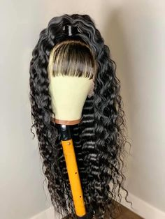 Magic Love Human Virgin Hair Pre Plucked Natural Color Deep Wave Lace Front Wig & Full Lace Wig For Black Woman Free Loose Curls Hairstyles, Summer Hairstyles, Wig Hairstyles, Black Hairstyles, Pretty Hairstyles, Front Hair Styles, Wig Styles, Curly Lace Front Wigs, Lace Wigs