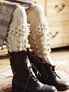 Rowan pattern, love it!! These would keep me warm whilst out on the verandah dyeing my fibre!