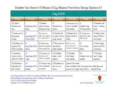 Free printable July 2013 decluttering calendar, with 15 minute daily missions {on Home Storage Solutions 101}