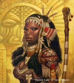 Warrior lady by Steve Prescott