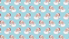 Fat Quarter Retro Santa Blue Christmas Quilting Fabric - Makower