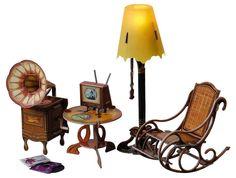 1:12 Dollhouse Miniature gramophone, Floor Lamp, chair . 279 in Furniture & Room Items | eBay