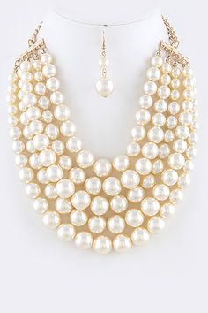 Samantha Pearl Necklace Set