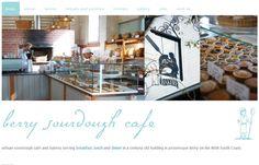 Berry Sourdough Cafe website by Handmade Web.