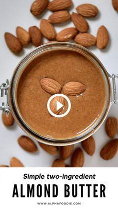 Nut Recipes, Milk Recipes, Almond Recipes, Raw Food Recipes, Indian Food Recipes, Cooking Recipes, Amazing Food Videos, Homemade Almond Butter, Butter Recipe