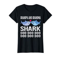 Amazon.com: Grandpa And Grandma Shark Tshirt Doo Doo Family Shark Shirts: Clothing Family Clothes, Family Outfits, Shark Shirt, Branded T Shirts, Fashion Brands, Amazon, Clothing, Mens Tops, Stuff To Buy
