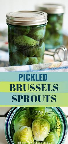 I'm sure you've had pickled, but have you had pickled brussel sprouts? Even if you don't like brussels sprouts you should try them pickled if you are a pickle fan. Pickled Okra, Crispy Pickles Recipe, Baked Pickles, Pickle Soup, Canning Pickles, Cucumber Recipes, Homemade Pickles, Pickling Cucumbers, Vinegar