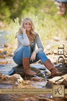 Durango Senior Pictures in the river by Allison Ragsdale Photography