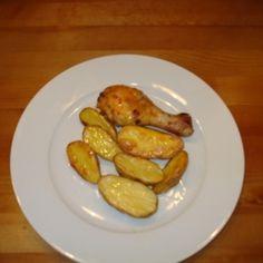 Chili-Hähnchen mit gebackenen Kartoffeln