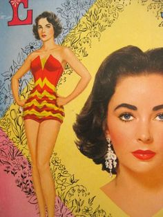The back cover of Elizabeth Taylor paper doll book.