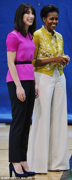 British Prime Minister's wife, Samantha Cameron & Michelle Obama