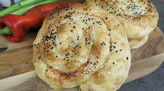 Schnecken Börek mit cremiger Weißkäse Füllung