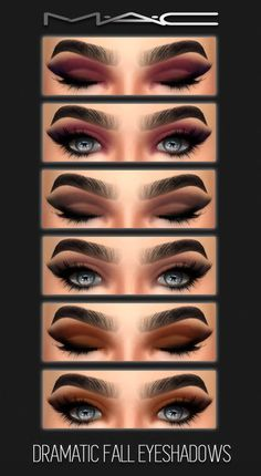MAC cosimetics: Dramatic fall eyes • Sims 4 Downloads