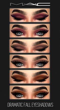 MAC cosimetics: Dramatic fall eyes • Sims 4 Downloads