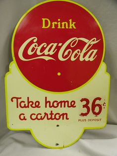 Ah, the good ole days....Coca-Cola Double Sided Sign...Made in Canada 1940 by St.Thomas Metal Signs LTD...