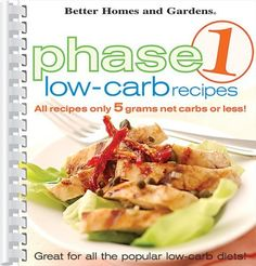 Phase 1 LowCarb Recipes, Unknown Author. 0696222558)
