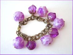 Vintage Bracelet Purple Lavender Acrylic Lucite by timmaryjewelry, $15.00
