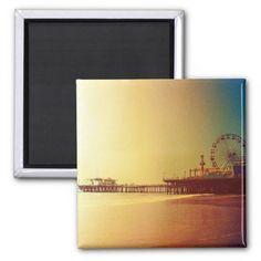 Florida sunrise business card business cards santa monica pier orange sunrise photo edit refrigerator magnet sold on zazzle colourmoves