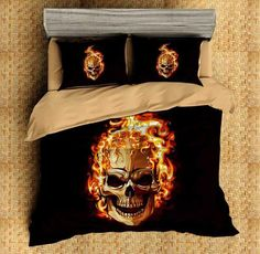 Do you want to print your ideas on bedroom settings? High quality stitches, environmental print and soft microfiber material and effect. Duvet Bedding Sets, Linen Bedding, Comforters, Custom Bedding, Skull Fashion, Punk Fashion, Lolita Fashion, High Resolution Picture, Quilt Cover Sets