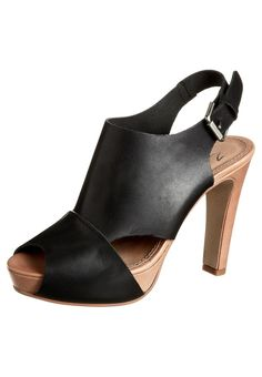 Zign - Korolliset sandaalit - musta