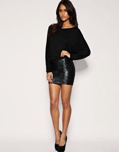 black mini and long sleeves mmhmm