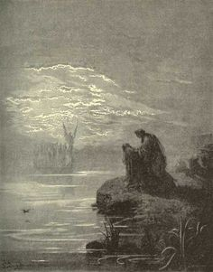 Illustration to Dante's Divine Comedy, Purgatorio, by Gustave Doré. Plate 2: The Heavenly Helmsman