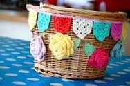 bicycle basket crochet cover