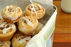 We've rounded up our top 15 favourite scroll recipes like these scrummy Mini Cinnamon Scrolls. Steak And Mushroom Pie, Scrolls Recipe, Lamb Pie, Cinnamon Scrolls, Mini Pastries, Pinwheel Recipes, Savory Muffins, Party Finger Foods, Homemade Pie