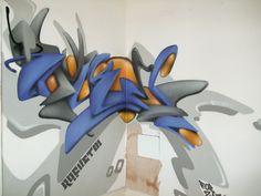 graffiti 3d blue