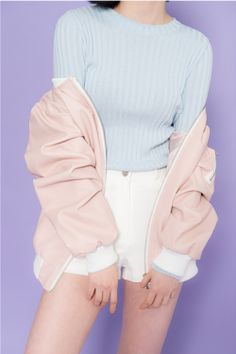 pastel pink varsity jacket - Google Search