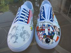 one direction shoes One Direction Shoes, Painted Canvas Shoes, British Accent, Cool Style, My Style, Weird Fashion, Custom Paint, Keds, Sunnies