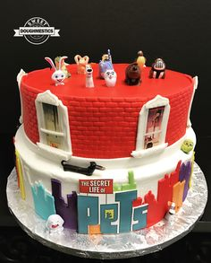 The Secret Life of Pets Cake by Sweet Doughmestics