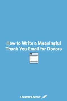 It doesn't matter if you're a startup nonprofit running your first campaign or a historic charity — sending donors a thoughtful thank you message is one of the most important things your organization can do.
