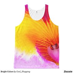 Bright Colors All-Over Print Tank Top