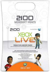 The Xbox Live 2100 Points Card keeps your gaming experience updated and unique. With these points you can download content exclusive to Xbox Live Marketplace. You can try out new and retro games or expand your existing games with premium content such as new maps and levels.