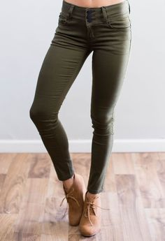 Perfect Fall Skinnies - Colored skinnies - women/'s fashion