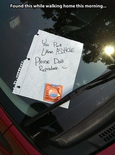 Ughh.. I'm surprised i haven't received a little love note like this. Dump A Day Funny Pictures Of The Day - 88 Pics