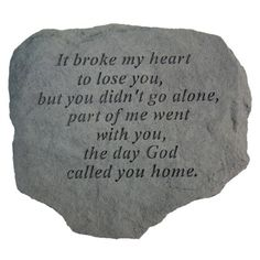 Remembrance Stone - It Broke My Heart to Lose You Sympathy Gifts and Memorials - Our remembrance stone, It Broke My Heart, adds another element to a Memorial Garden Stones, Memorial Gardens, Pet Loss, Animal Quotes, Pet Quotes, Qoutes, Rainbow Bridge, Pet Memorials, My Heart Is Breaking